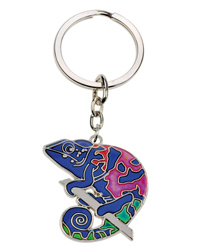 Picture of Blue Bug Mood Keyring Chameleon
