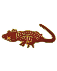 Picture of Blue Bug Pin Badge Crested Gecko