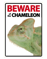Picture of Beware of the Chameleon Sign