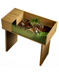 Picture of Vivexotic Viva Tortoise Table Oak Stand
