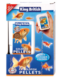 Picture of King British Goldfish Pellets Easy Clicker Feeder 26g