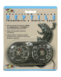 Picture of Zoo Med Analogue Thermometer Humidity Gauge