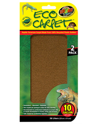 Picture of Zoo Med Eco Carpet 10 Gallon 25 x 51 cm - 2 Pack