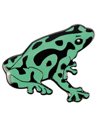 Picture of Blue Bug Pin Badge Frog Green