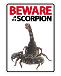 Picture of Beware of the Scorpion Sign