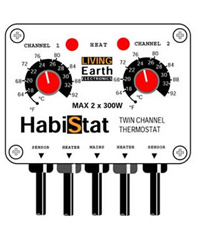 Picture of HabiStat Twin Channel Thermostat 2x 300W White