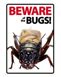 Picture of Beware of the Bugs Sign