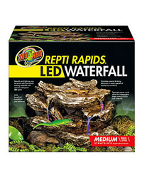 Zoo Med Reptirapids Led Waterfall Medium Rock Water And