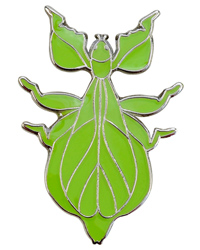 Picture of Blue Bug Pin Badge Walking Leaf